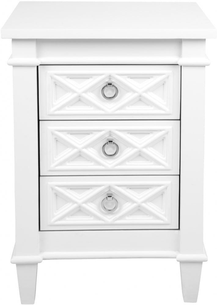 Providence bedside table small white
