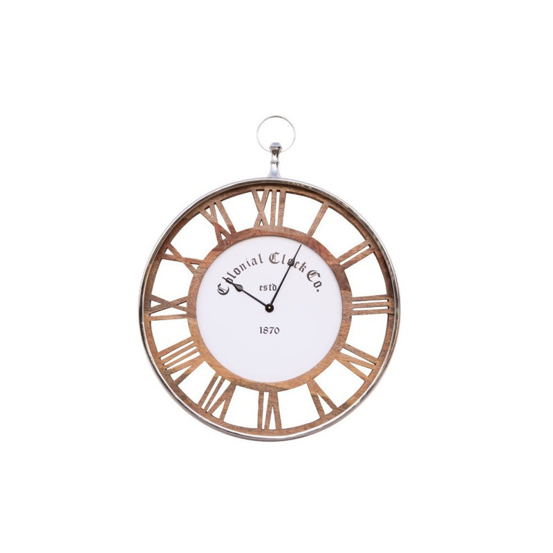 Colonial Wall Clock - Natural - 60cm