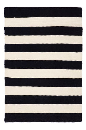 East Coast Black/white Striped Outdoor / Indoor rug