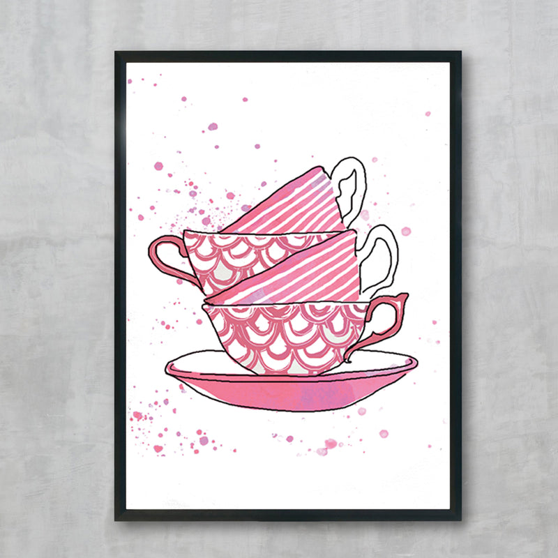 Tea For Two Pink Teacups 1