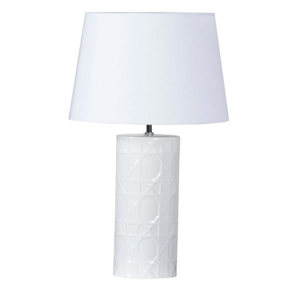 Wicker Lamp White
