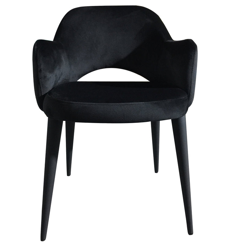 Toulon velvet dining chair - Black