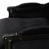 Alexander Matt Black Armchair Black Velvet