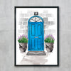 European Blue Door Number 10