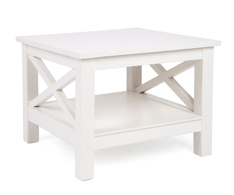 White Cross Side Table