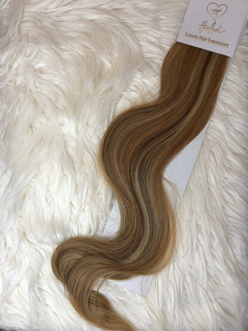 Blonde with Highlights (Color 1301) Tape-In Extensions - 21""