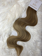 Light Brown with Blonde Highlights (Color 7119A) Tape-In Extensions - 25""