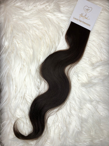Dark Brown (Color 02) Tape-In Extensions - 21""