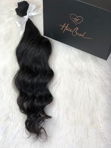 "Black Body Wave Bundle - 24"" Extensions"
