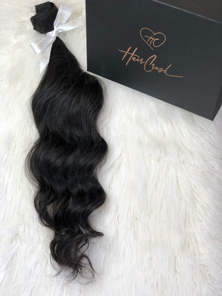 "Black Wavy Bundle - 28"" Extensions"