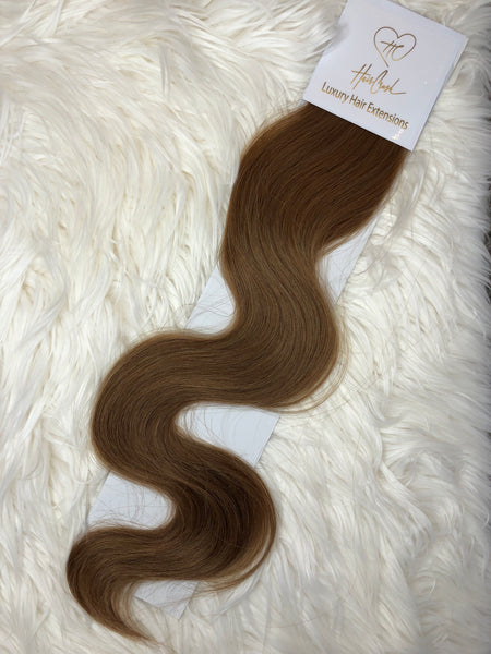 Light Brown (Color 12) Tape-In Extensions - 21""