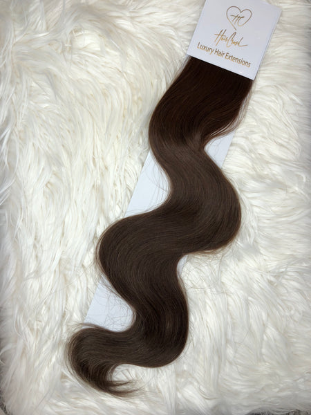 Medium-Dark Brown (Color 04) Tape-In Extensions - 21""
