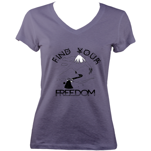 'Find Your Freedom' Ladies V-neck t-shirt (multi colour options)