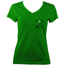 Find Your Freedom Ladies V-neck T-shirt (small logo)