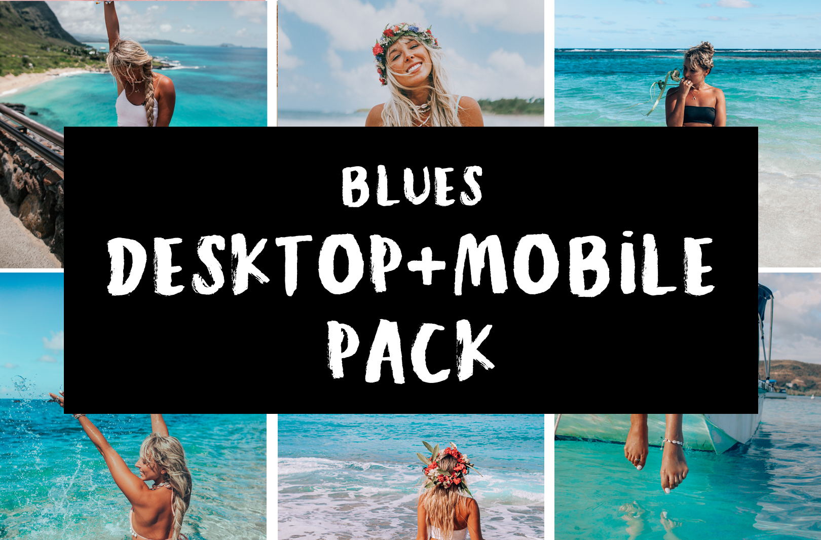 Tropical Blues DESKTOP Pack: RAW photos