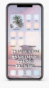 Beachy Pastel iOS14 Ultimate Aesthetic Kit *NEW ICONS ADDED*
