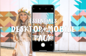 MASTER DESKTOP Pack for RAW photos: 4 Packs of Essentials + Tropicals