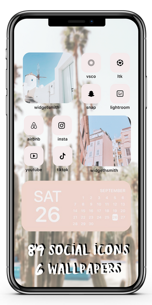 Pastel Wanderlust Icon Theme Social + Wallpaper Expansion Pack iOS14