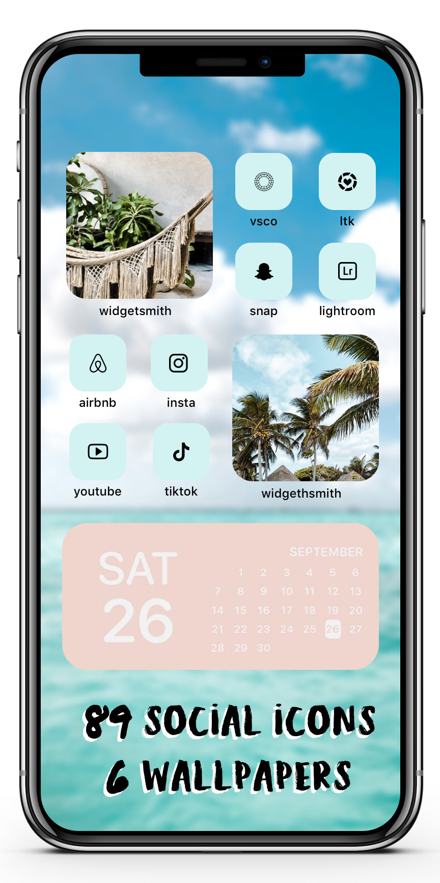 Tropical Icon Theme Social + Wallpaper Expansion Pack iOS14