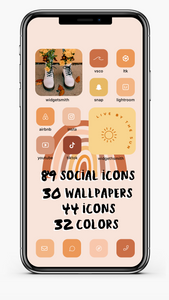 Warm Boho Fall iOS14 Ultimate Aesthetic Kit *NEW ICONS ADDED*