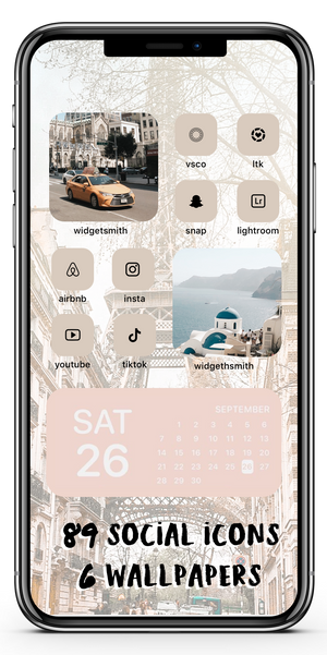 Warm City Icon Theme Social + Wallpaper Expansion Pack iOS14