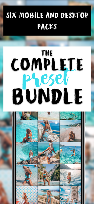 COMPLETE MOBILE+DESKTOP BUNDLE: 6 Packs of Lightroom Presets