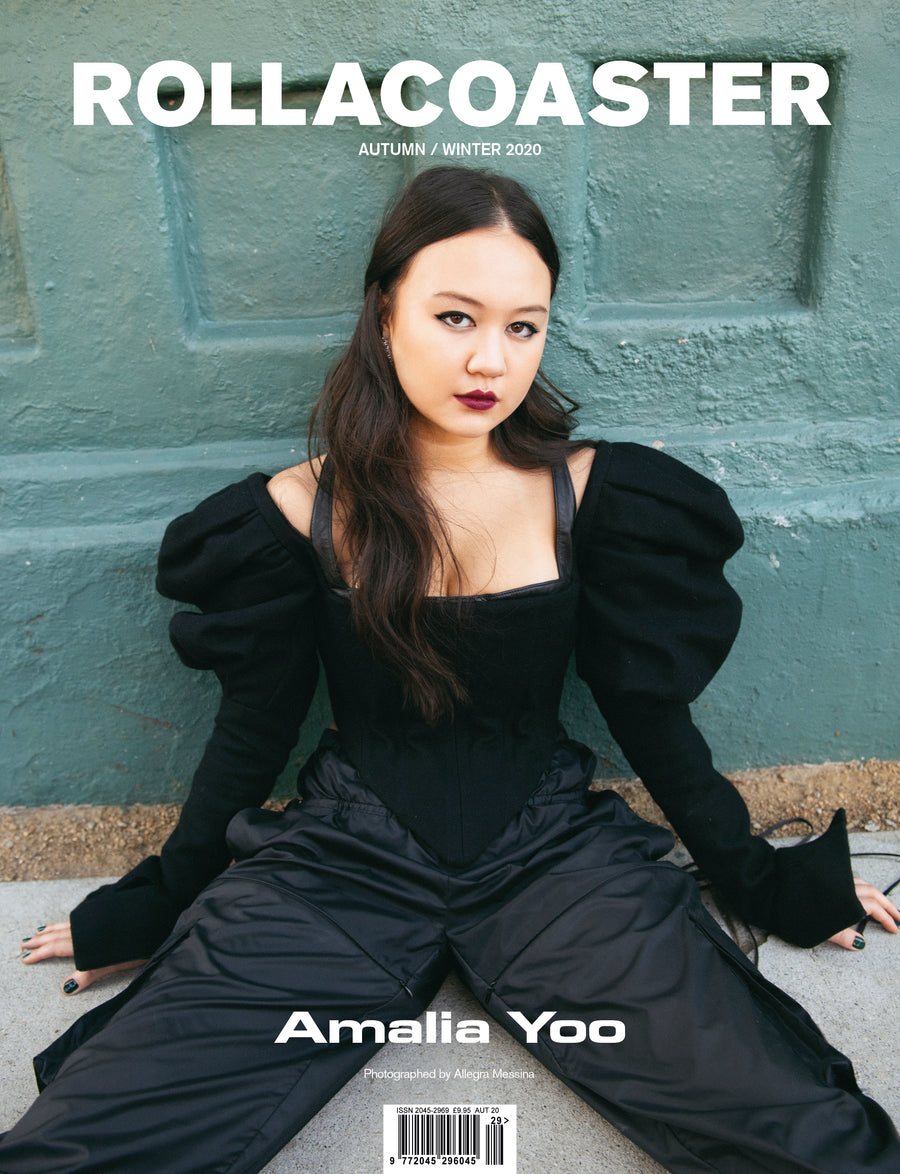 Amalia Yoo stars in Grand Army covers Rollacoaster Magazine Autumn/ Winter 2020