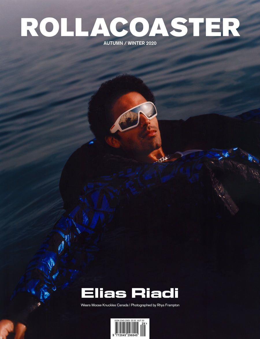Elias Riadi Covers Rollacoaster Magazine Autumn/ Winter 2020