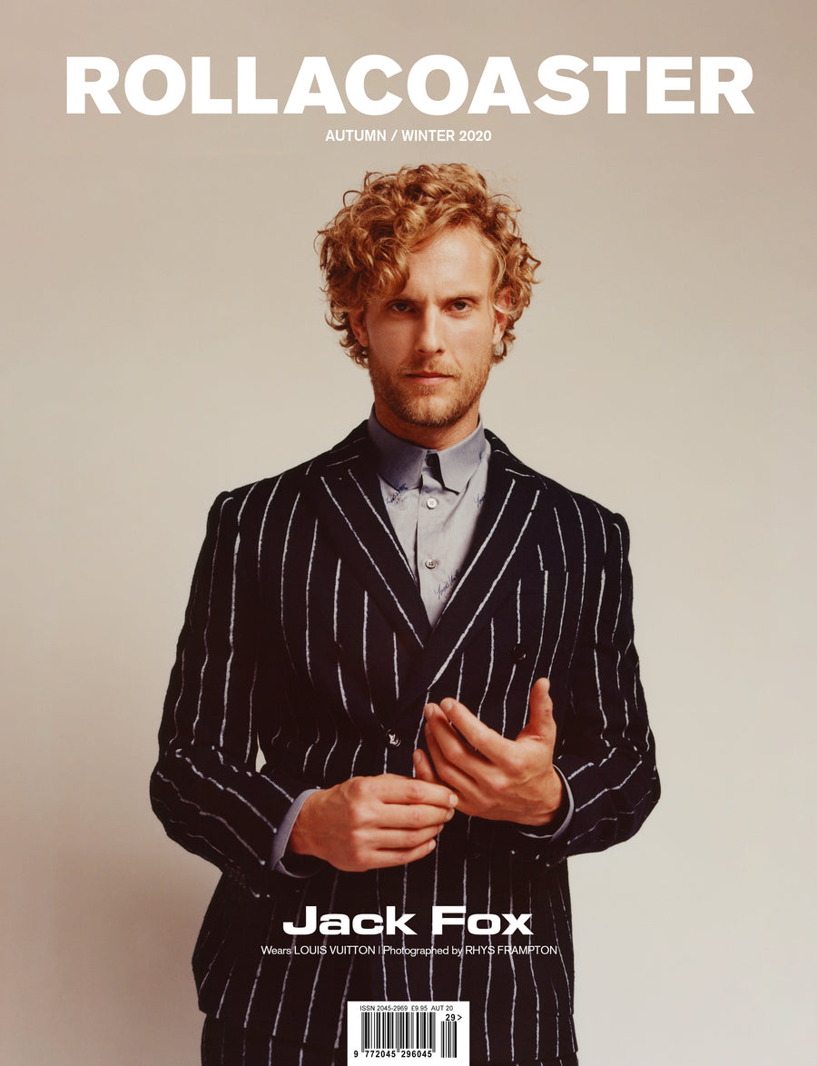 JACK FOX from Sky's Riviera Covers Rollacoaster Magazine Autumn/ Winter 2020