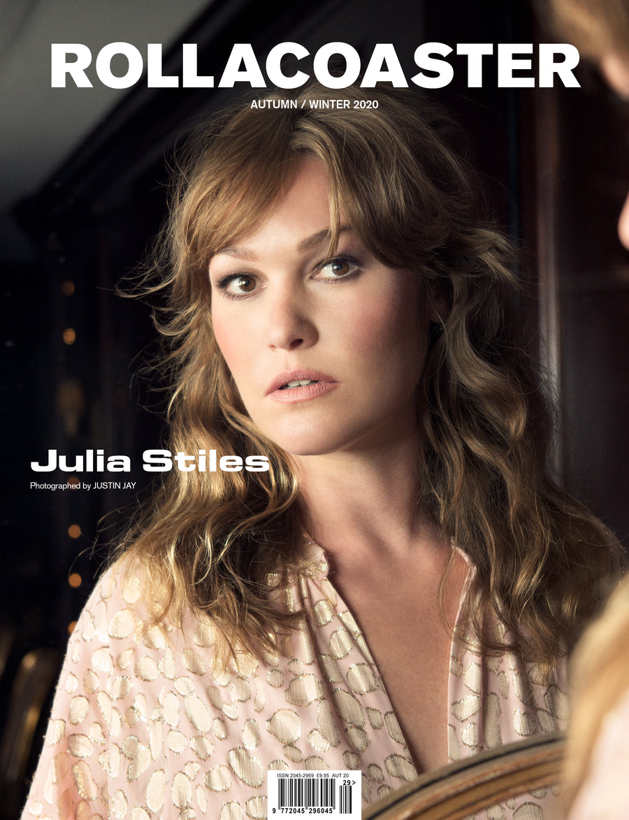 JULIA STILES from Sky's Riviera Covers Rollacoaster Magazine Autumn/ Winter 2020