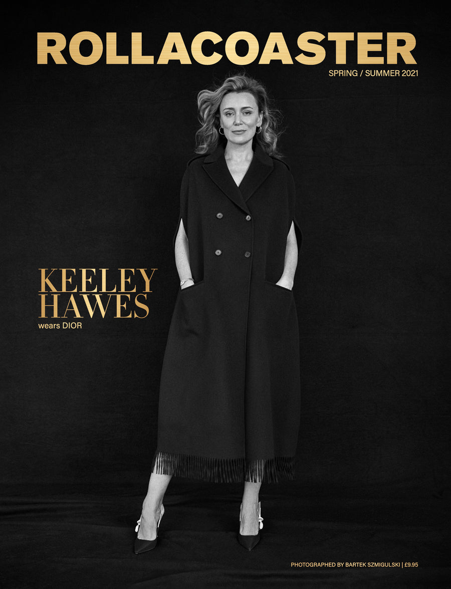 KEELEY HAWES wears Dior Covers Rollacoaster Magazine Spring/ Summer 2021