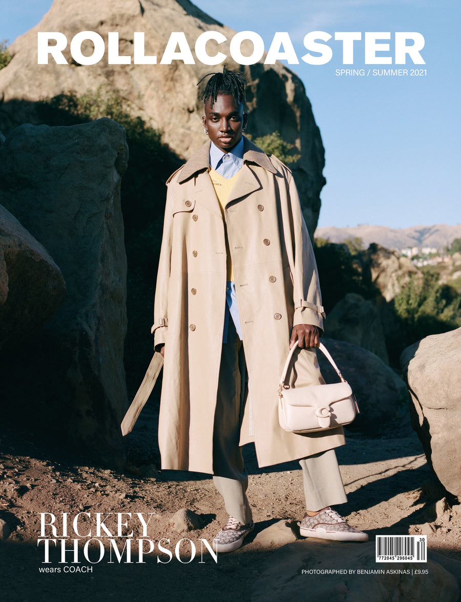 Rickey Thompson Covers Rollacoaster Magazine Spring/ Summer 2021