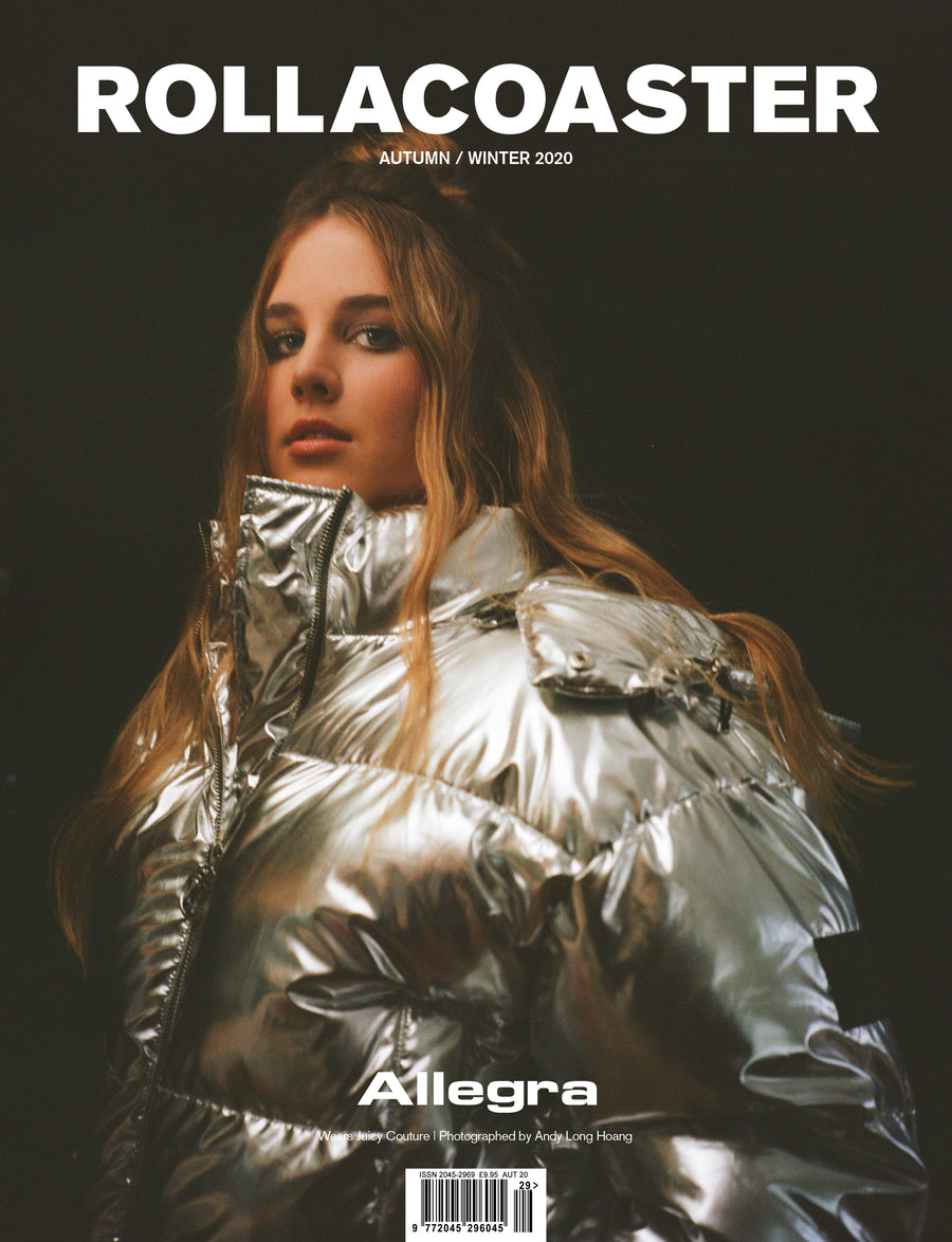 ALLEGRA covers Rollacoaster Magazine Autumn/ Winter 2020