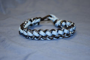 550 Cord (Paracord) Metal Spring Loaded Clip Bracelet