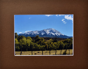 Colorado Spanish Peak Mountain Landscape Fine Art Photography Matted Picture 8x10