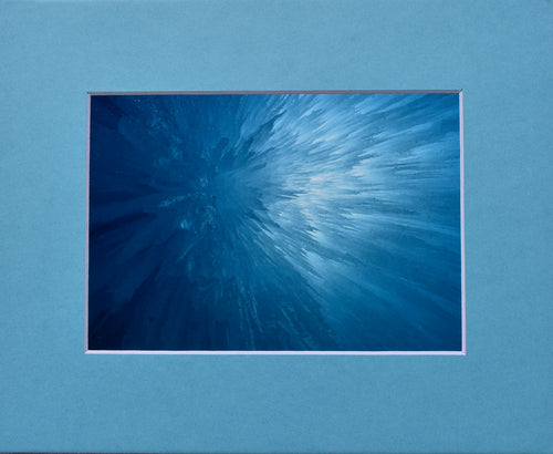 Ice Falling Fine Art Photography Matted Picture 8x10