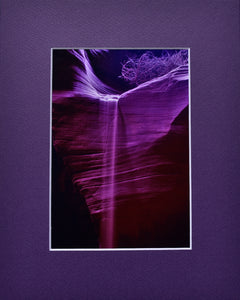 Purple SandFall Fine Art Photography Matted Picture 8x10