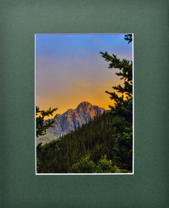 Colorado Mountain Sunset Fine Art Photography Matted Picture 8x10