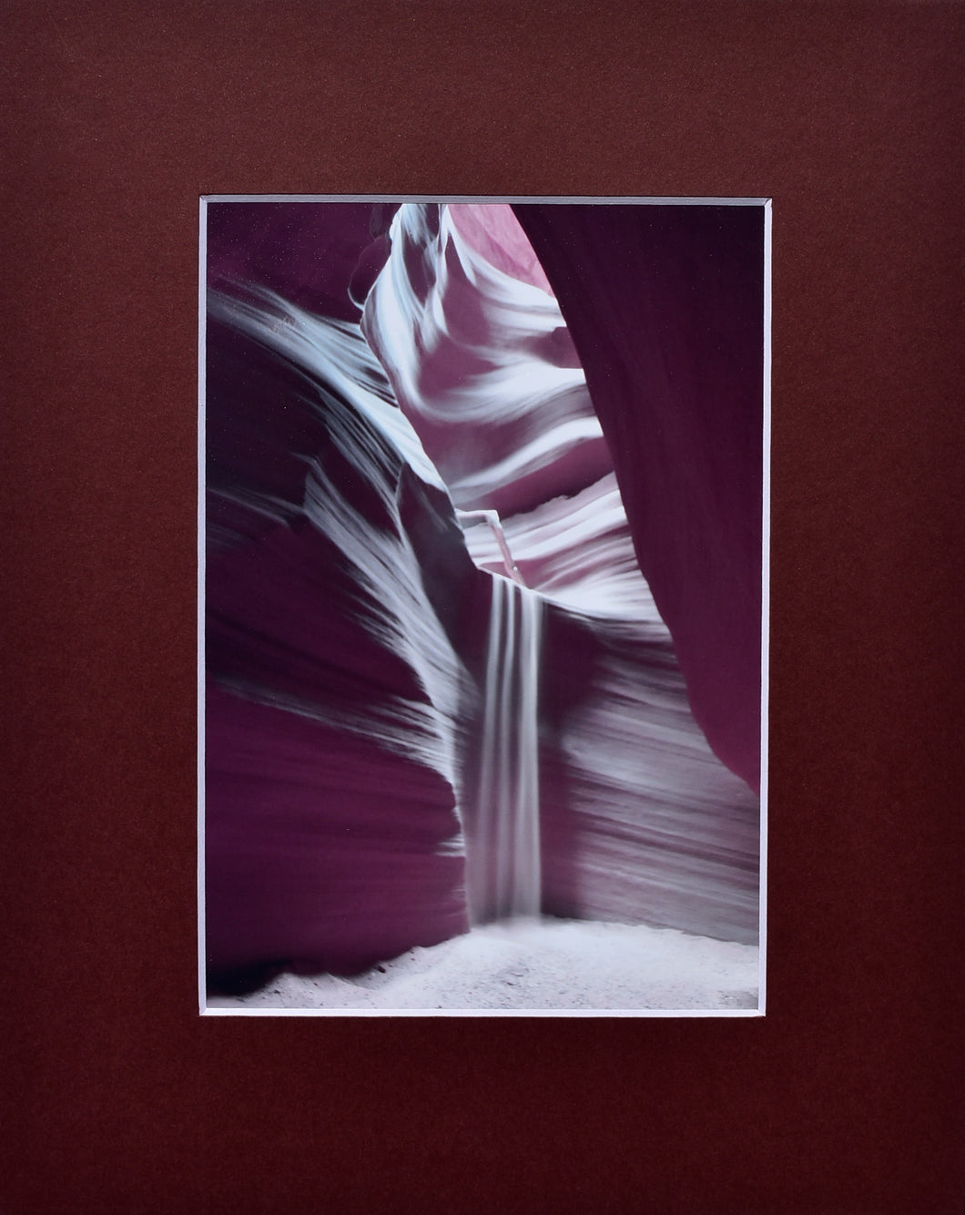 Sandfall  Desert Fine Art Photography Matted Picture 8x10
