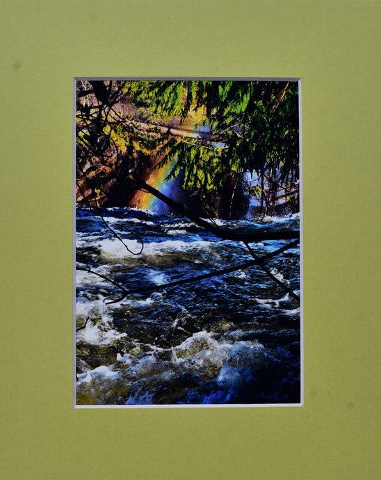 Rainbow With River Fine Art Photography Matted Picture 8x10