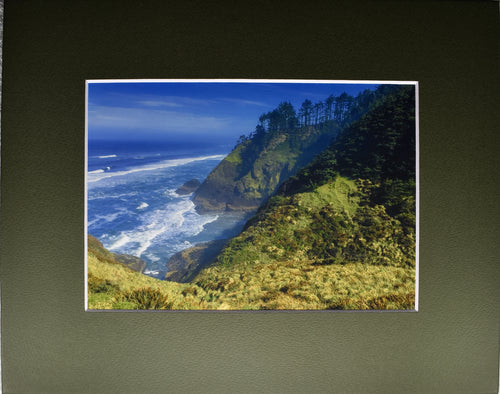 Oregon Pacific Coast Ocean Landscape Fine Art Photography 8x10 Matted Print