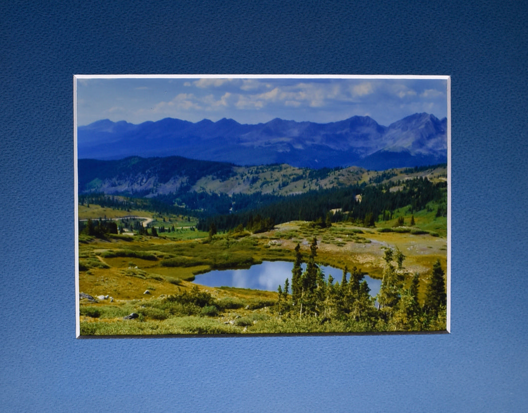 Colorado Mountain Lake Landscape Fine Art Photography 8x10 Matted Print