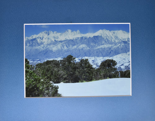 Snowcapped Mountain Landscape 8x10 Fine Art Photography Matted Picture