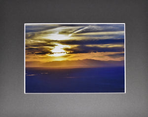 Colorado Mountain Sunset Fine Art Photography 8x10 Matted Print
