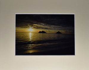 Ocean Sunset Fine Art Photography 8x10 Matted Print