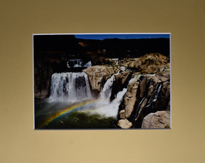 """Tell Me I Was Dreaming"" Waterfall Rainbow Landscape Fine Art Photography 8x10 Matted Print"