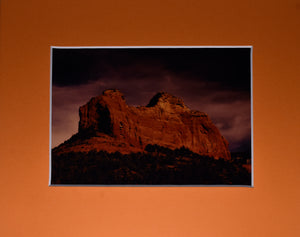 Desert Rock Storm Sunset Landscape Fine Art Photography 8x10 Matted Print