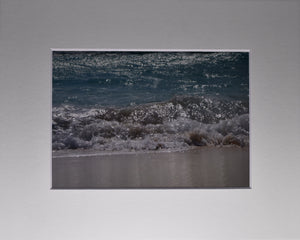 Beach, Ocean, Waves Fine Art Photography Matted Picture 8x10