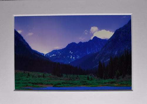 Mountain Lake Sunset Fine Art Photography 5x7 Matted Print