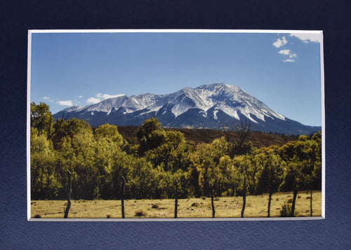 Colorado Spanish Peaks Mountain Landscape Fine Art Photography 5x7 Matted Print